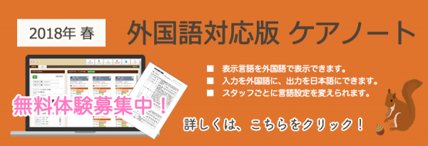 外国語対応版ケアノート